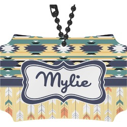 Tribal2 Rear View Mirror Ornament (Personalized)