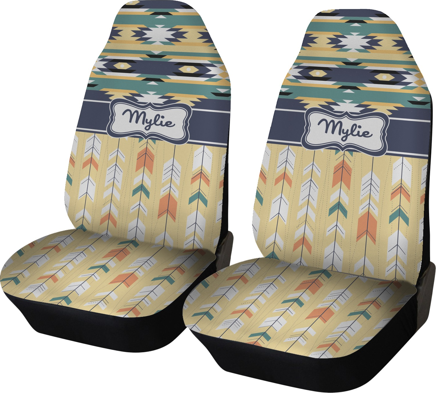 Tribal2 Car Seat Covers Set Of Two Personalized