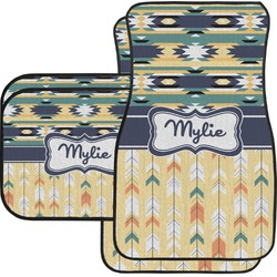 Tribal2 Car Floor Mats Set - 2 Front & 2 Back (Personalized)
