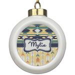 Tribal2 Ceramic Ball Ornament (Personalized)