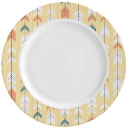 Tribal2 Ceramic Dinner Plates (Set of 4) (Personalized)