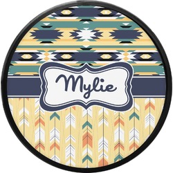 Tribal2 Round Trailer Hitch Cover (Personalized)