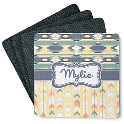 Tribal2 4 Square Coasters - Rubber Backed (Personalized)