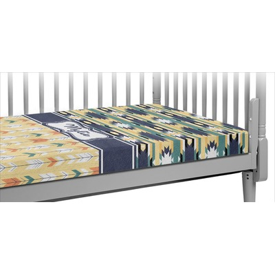 Tribal2 Crib Fitted Sheet (Personalized)