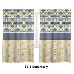 """Tribal2 Curtains - 40""""x54"""" Panels - Unlined (2 Panels Per Set) (Personalized)"""
