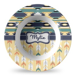 Tribal2 Plastic Bowl - Microwave Safe - Composite Polymer (Personalized)