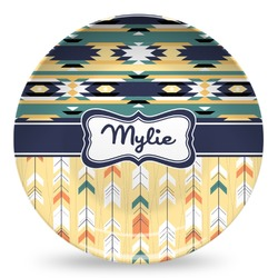 Tribal2 Microwave Safe Plastic Plate - Composite Polymer (Personalized)