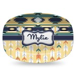 Tribal2 Plastic Platter - Microwave & Oven Safe Composite Polymer (Personalized)