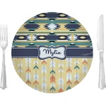 "Tribal2 Glass Lunch / Dinner Plates 10"" - Single or Set (Personalized)"