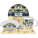 Tribal2 Dinner Set - 4 Pc (Personalized)