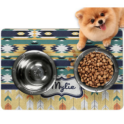 Tribal2 Dog Food Mat - Small w/ Name or Text