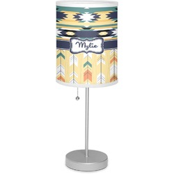 """Tribal2 7"""" Drum Lamp with Shade (Personalized)"""