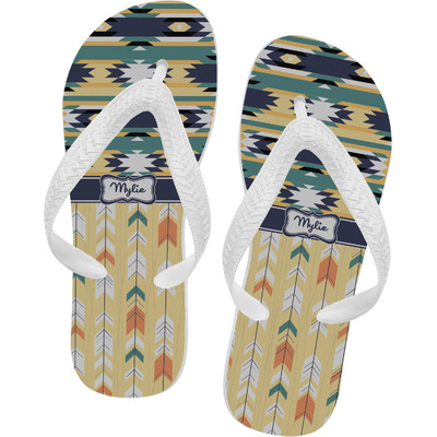 Tribal2 Flip Flops - XSmall (Personalized)