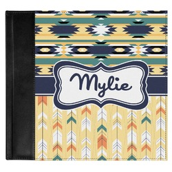 Tribal2 Genuine Leather Baby Memory Book (Personalized)