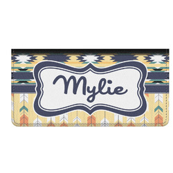 Tribal2 Genuine Leather Checkbook Cover (Personalized)