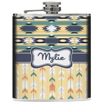 Tribal2 Genuine Leather Flask (Personalized)