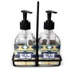 Tribal2 Soap & Lotion Dispenser Set (Glass) (Personalized)