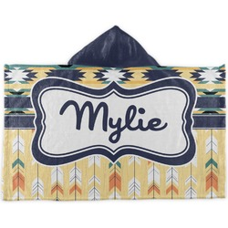 Tribal2 Kids Hooded Towel (Personalized)