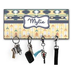 Tribal2 Key Hanger w/ 4 Hooks (Personalized)