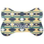Tribal2 Bone Shaped Dog Food Mat (Personalized)
