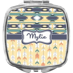 Tribal2 Compact Makeup Mirror (Personalized)