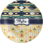 Tribal2 Melamine Plate (Personalized)