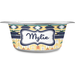 Tribal2 Stainless Steel Dog Bowl (Personalized)