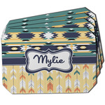 Tribal2 Dining Table Mat - Octagon w/ Name or Text
