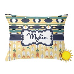 Tribal2 Outdoor Throw Pillow (Rectangular) (Personalized)