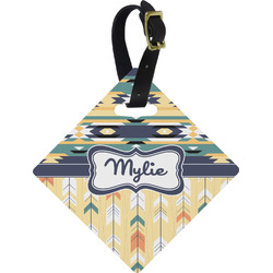 Tribal2 Diamond Luggage Tag (Personalized)