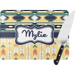 Tribal2 Rectangular Glass Cutting Board (Personalized)