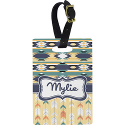 Tribal2 Rectangular Luggage Tag (Personalized)