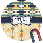 Tribal2 Round Magnet (Personalized)