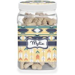 Tribal2 Pet Treat Jar (Personalized)