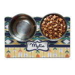 Tribal2 Dog Food Mat (Personalized)