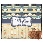 Tribal2 Outdoor Picnic Blanket (Personalized)