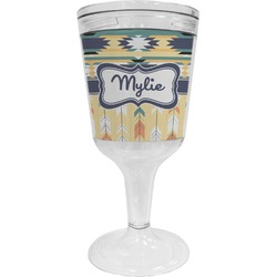Tribal2 Wine Tumbler - 11 oz Plastic (Personalized)