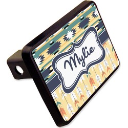 "Tribal2 Rectangular Trailer Hitch Cover - 2"" (Personalized)"