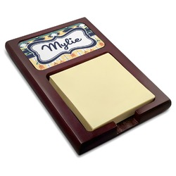 Tribal2 Red Mahogany Sticky Note Holder (Personalized)