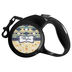 Tribal2 Retractable Dog Leash (Personalized)