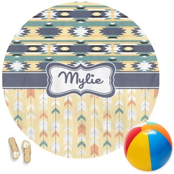 Tribal2 Round Beach Towel (Personalized)