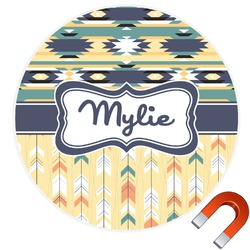 Tribal2 Round Car Magnet (Personalized)