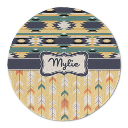 Tribal2 Round Linen Placemat (Personalized)