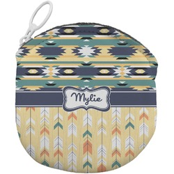 Tribal2 Round Coin Purse (Personalized)