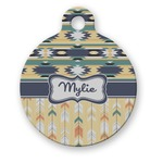 Tribal2 Round Pet Tag (Personalized)