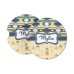 Tribal2 Sandstone Car Coasters (Personalized)