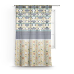 Tribal2 Sheer Curtains (Personalized)