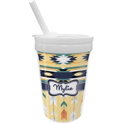 Tribal2 Sippy Cup with Straw (Personalized)