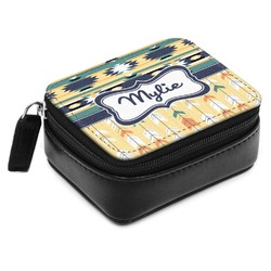 Tribal2 Small Leatherette Travel Pill Case (Personalized)