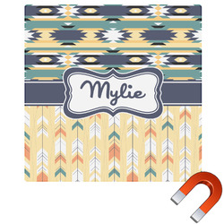 Tribal2 Square Car Magnet (Personalized)